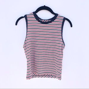 Kids Red White and Blue Stripe Tank